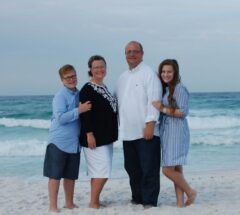 Pastor Ladd and Jennifer Hurst with their children, Hensley and Hayden.